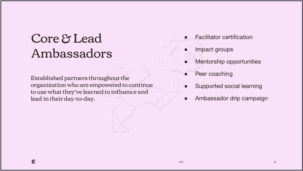core and lead ambassadors